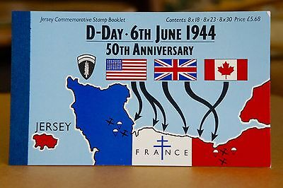 Jersey Commemorative Stamp Booklet D-Day June 6,1994 50th Anniversary