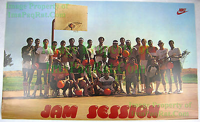 Vintage JAM SESSION NIKE Poster NITF! Mounted Malone Griffith Lucas ++More