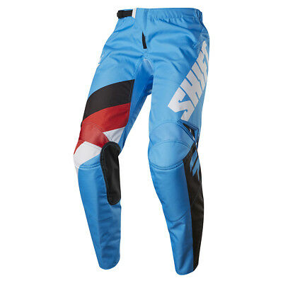2017 Shift MX Youth WHIT3 Tarmac Pants - Blue Boys Motocross Offroad Dirt Trail