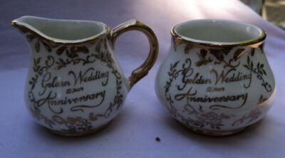 Arthur Wood 50th Anniversary Reversable Creamer & Sugar