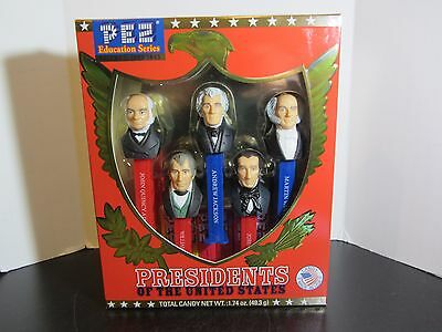 SEALED PEZ presidents of the united states set VOL 2 1825-1845 education series