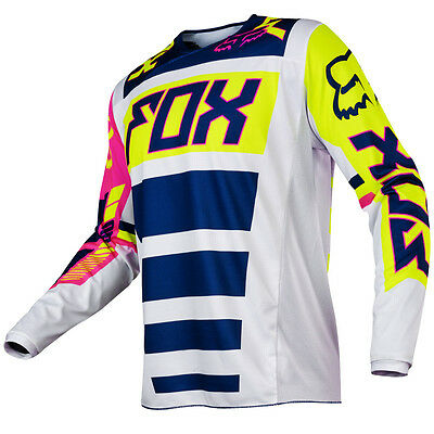 2017 Fox MX Youth 180 Jersey - Falcon Navy Blue/White Kids Motocross Offroad Pee