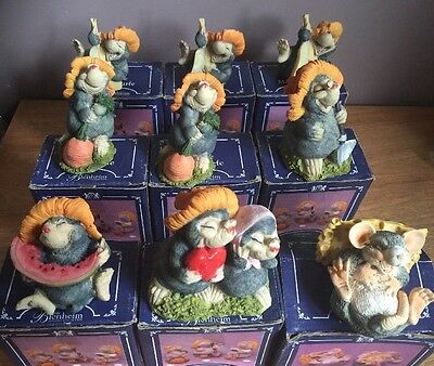 Mole Taupe Maulwurfe 9x figurines joblot  - The Blenheim Collection