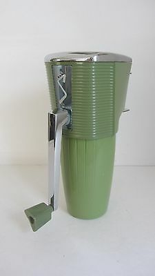 1950's Vintage Swing-A-Way Ice Crusher Avocado Green With Chrome Top &handle