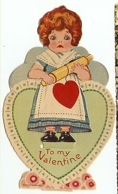 Stand-Up Vintage Valentine Day Card Made in Germany Good+