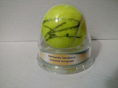 2007 ACE Authentic Fernando Verdasco Autograph Tennis Ball Auto With COA