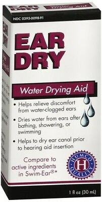 EAR DRY WATER DRYING DROPS FOR SWIMMERS 1oz
