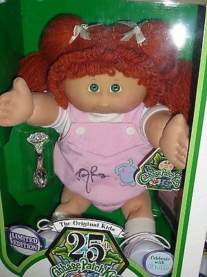 Cabbage Patch Kids 25th Anniversary Sample HAND SIGNED Doll Carvel Orange Hair