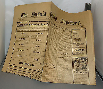 Sarnia Canadian Observer Newspaper June 1910 Great Advertisements