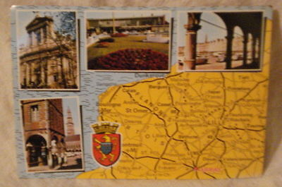 Post Card Map of France & Historical Views Arras France