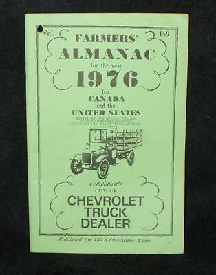 Farmers Almanac 1976 for Canada United States Compliments of Chevrolet