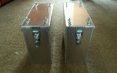 Aluminium panniers pair  top box