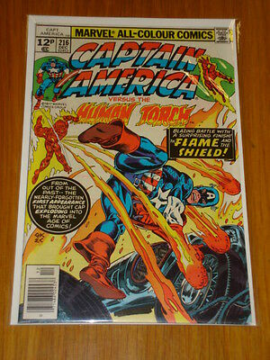 Captain America #216 Marvel Comic Near Mint Condition December 1977