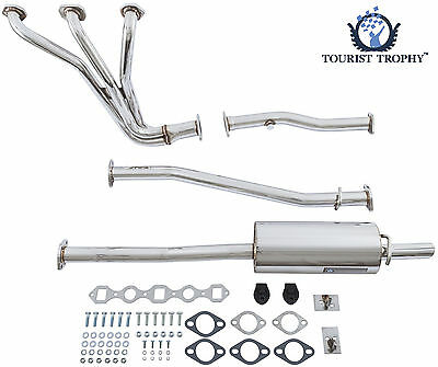 Mgb Stainless Sports Exhaust System With Extractor  Manifold  Moss - 459-085