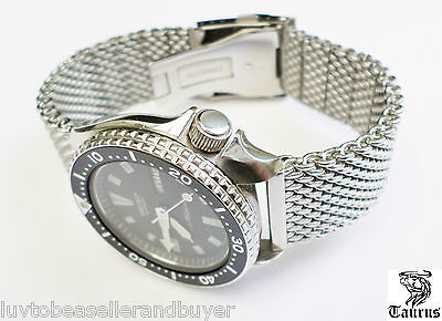 Taurus Premium Milanese Mesh Solid Watch Strap Band 20mm 22mm For Seiko & Omega