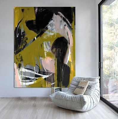 LARGE HUGE ORIGINAL GUGI GOO You dance like a rapturous Player ABSTRACT PAINTING