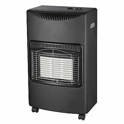 4.2Kw Portable Home Butane Fire Calor Gas Cabinet Heater With Regulator Hose New