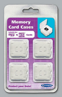 Integral Micro SD Camera Memory Card Replacement Protective Storage Cases 4 Pack