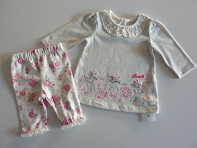 Disney BAMBI Gorgeous Little 2 Piece Set NWT