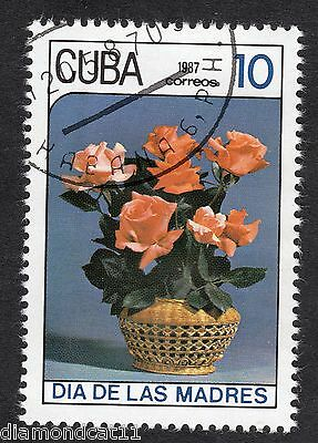 1987 Mothers Day Roses in Basket 10c SG 3250 FINE USED R21498