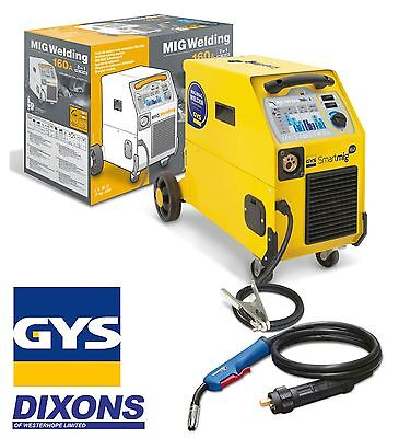 GYS Smartmig 162 160 amp MIG Welder Gas & Gasless Welding Single Phase