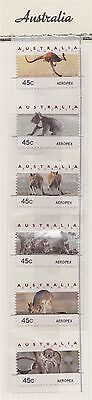 Australia 1994 45c Wildlife Counter Printed stamps AEROPEX set of 6 MUH**