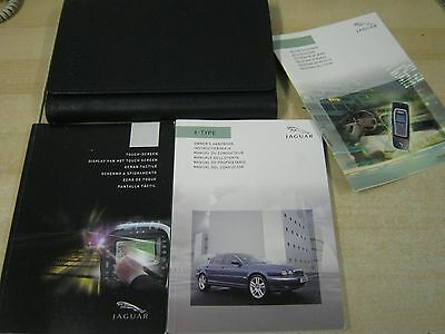 Jaguar X-Type Owners Manual Handbook  2001-2006  And Wallet Touch Sat Nav