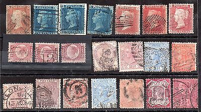 GB QV collection 2d blues etc. x 21 values unchecked JB117