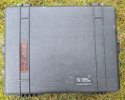 Genuine Pelican/peli 1610 Hard Equipment Case With Pull Handle And Wheels. Black