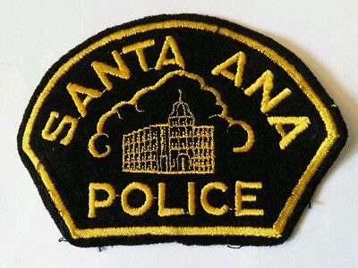 Vintage SANTA ANA (USA) POLICE PATCH fabric embroidered sew on