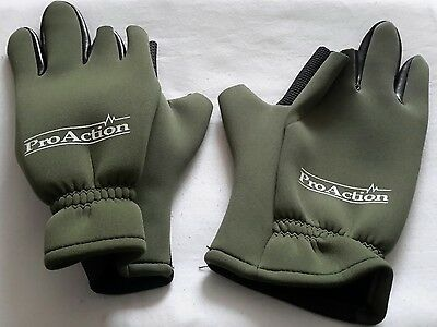 A Brand New Pair Pro-Action Fishing Hunting Finger Chopped Gloves