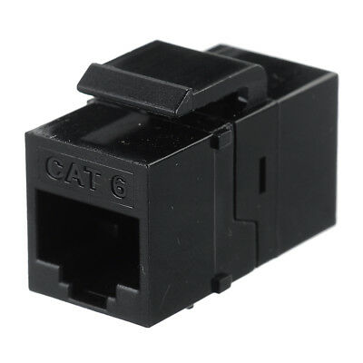 CY UT-007 Female to Female UTP CAT6 Keystone inline Coupler Adapter - Black