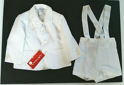 Imp Originals Boy's Toddler Easter 3 pc White Suit Shorts Jacket Size 18 Mo. NWT
