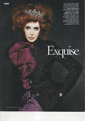 ISABELLE ADJANI Celebrity fashion model clippings lot #1