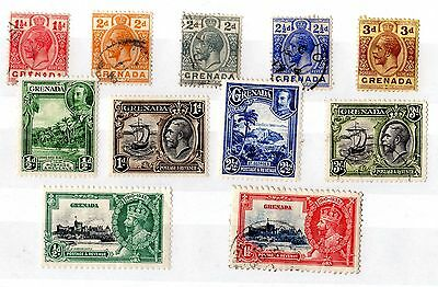 Grenada QV Collection of 11 Values Mint/VFU X5283