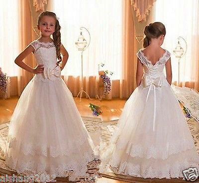 Girl Communion Party Prom Princess Pageant Bridesmaid Wedding Flower Girl Dress