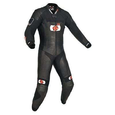 Oxford RP 3 RP-3 1 One Piece Leather Motorcycle Race Suit Tech Black NEW