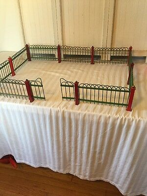 Antique Feather Tree Metal Fence Red Green