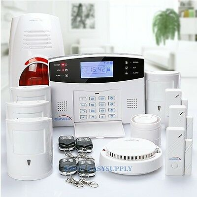 HOMSECUR Wireless & Wired GSM Autodial Home Security Alarm System Pet Friendly