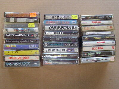 Hard to Find Lot of 28 CASSETTE music tapes Metal Hard Rock Glam Alternative