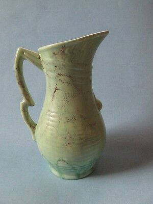 Lovely Mint Green & Chocolate Art Deco Beswick Pitcher by Mr. Symcox 1930s