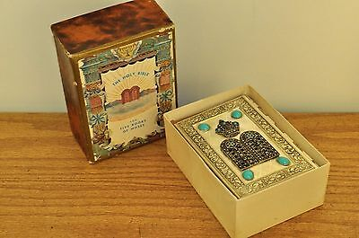 Vintage Silver Plate Hebrew Bible English Turquoise 1968
