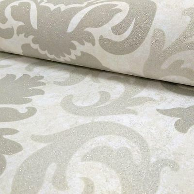 P&s Carat Damask Gold And Beige Glitter Wallpaper 10M Bedroom Lounge Free P+P