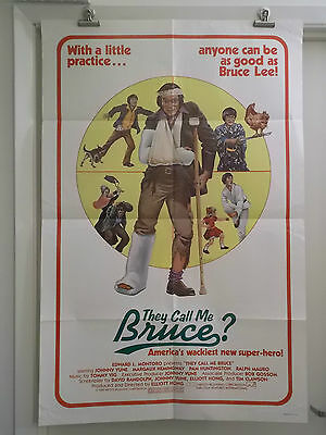 THEY CALL ME BRUCE ? one 1 sheet movie poster JOHNNY YUNE 1982 original