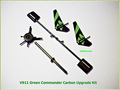 1 Kit Carbon Upgrade Hélicoptère WLToys V911 Green Commander 4CH RC Helicopter