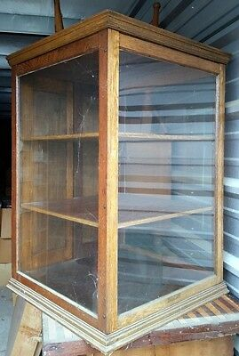 Antique Wood Counter Top Display Case