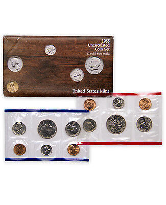 1985 United States U.S. Mint Uncirculated Coin Set SKU1391