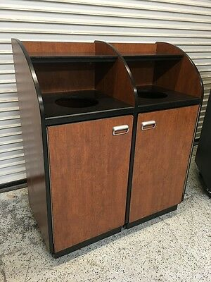 Trash Waste Bin & Inner Can Liner on Wheels #5816 Commercial Restaurant Heavy Du