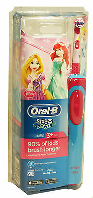 Electric Rechargeable Oral-B Toothbrush Kids Disney Princess Themed