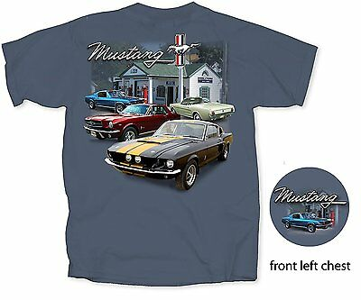 Ford Mustang Service Station Automobile Car Tee Ford
